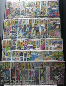 PETER PARKER, THE SPECTACULAR SPIDER-MAN COLLECTION! 62 BOOKS FROM #11-200!VG-F+
