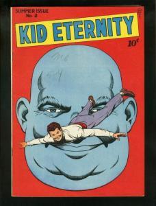 KID ETERNITY #2 1946-HIGH GRADE SUPER HERO-RARE-QUALITY VF