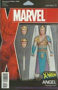 UNCANNY X-MEN 5 John Tyler Christopher JTC ANGEL Action Figure Variant NM