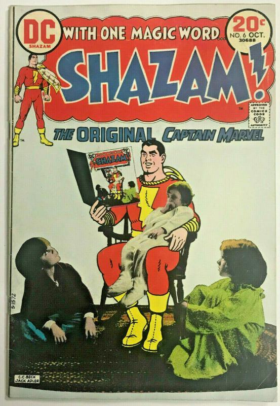 SHAZAM#6 FN 1973 DC BRONZE AGE COMICS