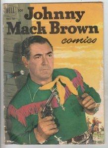 Johnny Mack Brown # 9 strict VGCoverJohnny Mack Brown Photo!