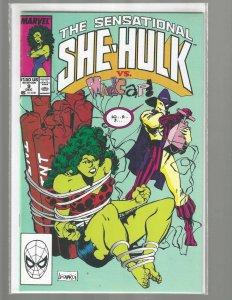 The Sensational She-Hulk, #9, Marvel Comic, 1989, High Grade