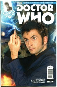 DOCTOR WHO #2 B, NM, 10th, Tardis, 2014, Titan, 1st, more DW in store, Sci-fi