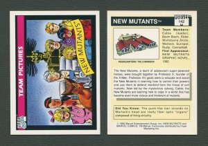 1990 Marvel Comics Card  #142 (New Mutants) / MINT