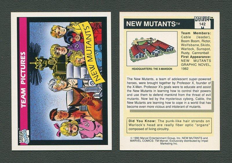 1990 Marvel Comics Card  #142 (New Mutants) / MINT