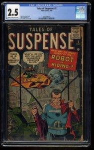 Tales of Suspense #2 CGC GD+ 2.5 Cream To Off White Iron Man
