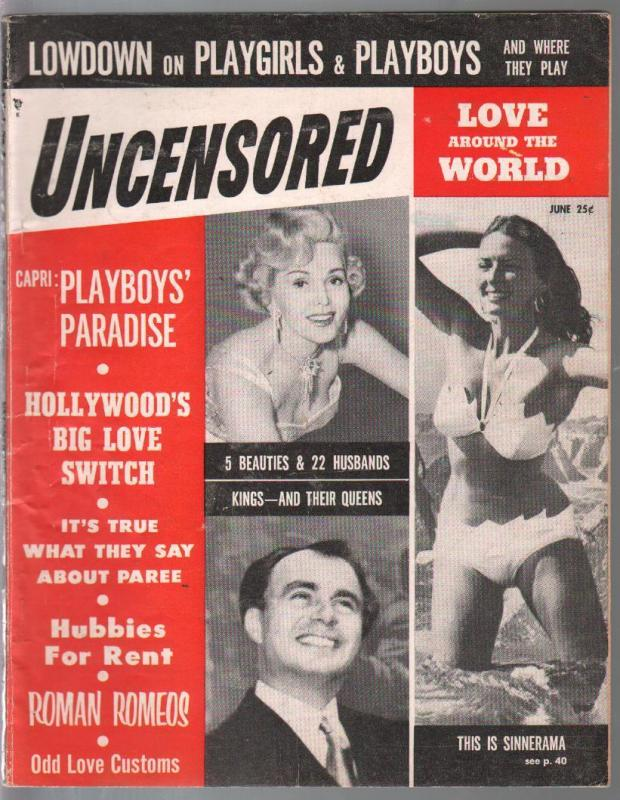 Uncensored-#5  9/1954-cheesecake-pix-pulp thrills-expose-scandal-VG/FN
