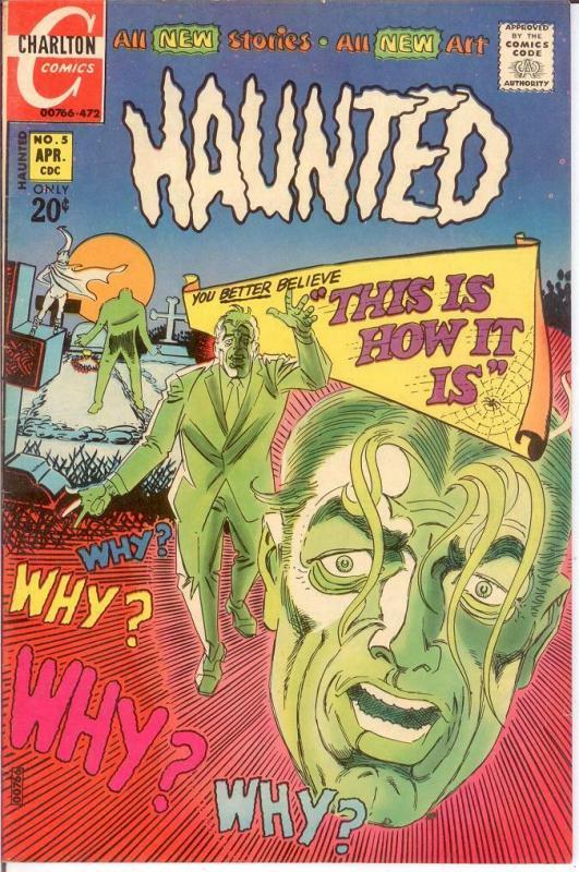 HAUNTED (1971-1984 CH) 5 F+ April 1972 COMICS BOOK