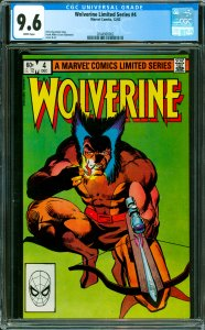 Wolverine Limited Series #4 CGC Graded 9.6