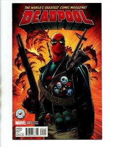 Deadpool #1 Hawthorne Third Eye Variant - 2013 - VF