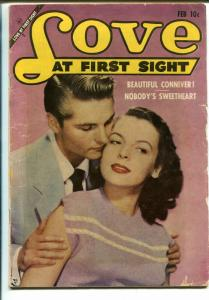 Love At First Sight #26 1954-Ace-Spicy Art-Dime-A-Dance Girl-VG