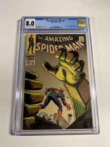 Amazing Spider-man 67 Cgc 8.0 Ow/w Pages Marvel Silver Age