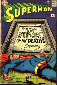Superman #213 (ungraded) stock photo