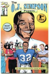 The OJ Simpson Papers Comic #1 1995- Unauthorized Bio NM-
