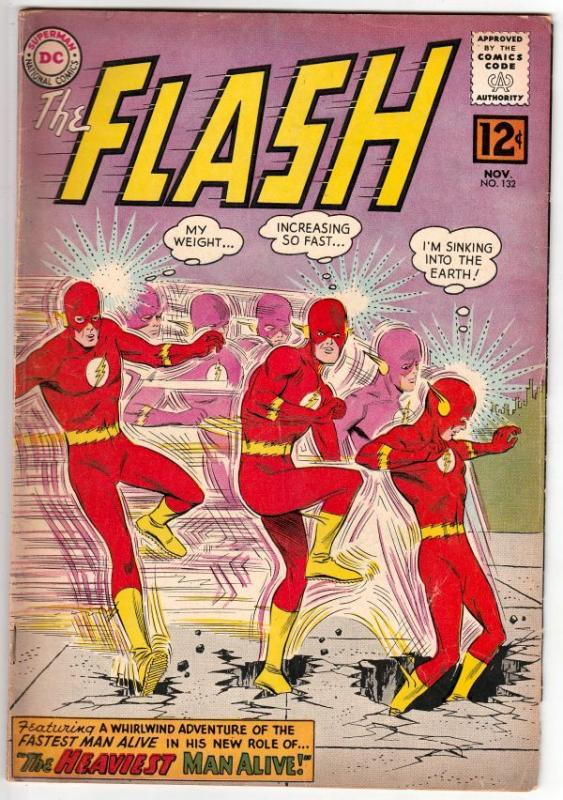 Flash, The #132 (Nov-62) FN/VF- Mid-High-Grade Flash