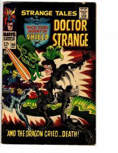 STRANGE TALES 163 Oct. 1967 GOOD-VERYGOOD