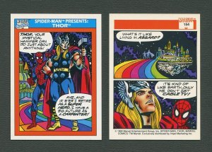1990 Marvel Comics Card  #154 (Spiderman Presents: Thor) / MINT