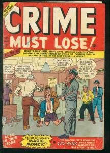 CRIME MUST LOSE! #4-BOXING/RACKETEER COVER-WILD TORTURE G-