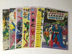 Official Dc Index Justice League Of America 1 2 4-8 4 5 6 7 8 Lot Nm Near Mint D