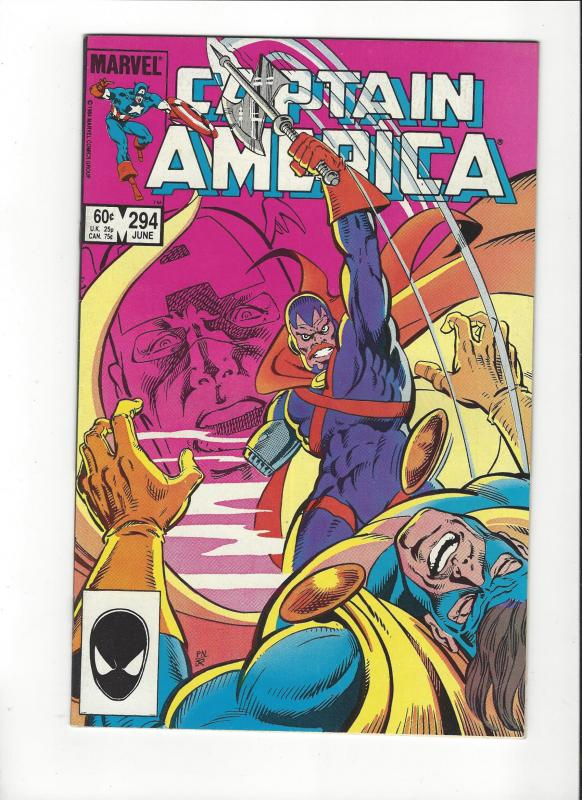 CAPTAIN AMERICA #294 NOMAD VERSUS THE SLAYER VF/NM