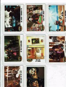38 Batman Trading Cards Joker Jack Nicholson Michael Keaton 1989 Vicky Vale J146