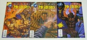 Neil Gaiman's Mr. Hero #1 2 3 VF/NM complete set of gold signature variants