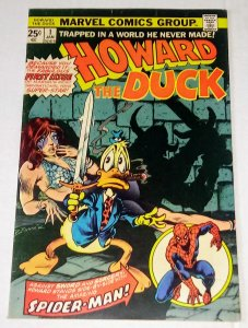 Howard the Duck #1 (VF-) Spider-Man Appearance Bronze Age Marvel ID#26Q