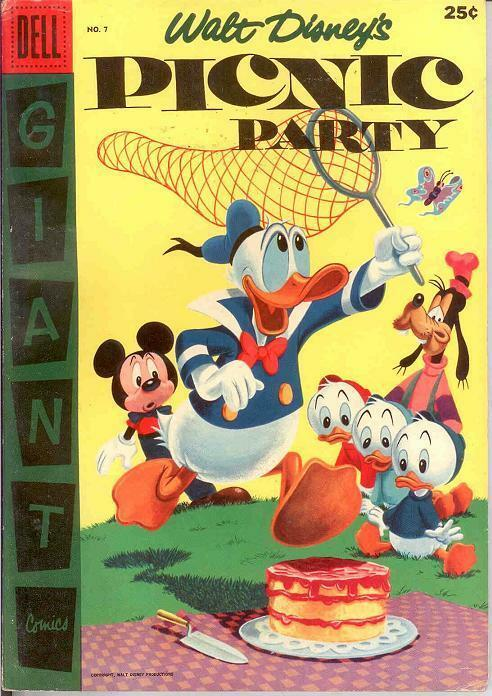 PICNIC PARTY 7 FINE   June 1956 (DELLGIANT) COMICS BOOK