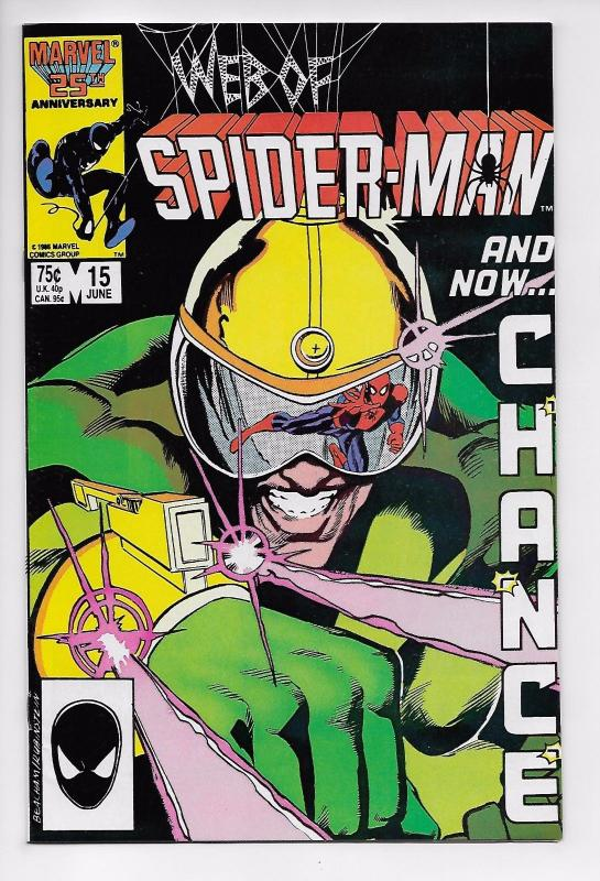 Web of Spider-Man #15 - 1st Appearance of Chance (Marvel, 1986) - VF+