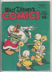 Comics and Stories, Walt Disney's #64 (Jan-46) VG/FN Mid-Grade Donald Duck, H...