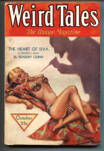 Weird Tales 10/1932-Horror-MARGARET BRUNDAGE cover-Pulp Magazine