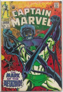 Captain Marvel (vol. 1, 1968) # 5 GD Drake/Heck