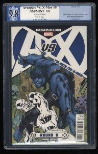 Avengers vs. X-men  #8 PGX NM/M 9.8 White Pages Variant!