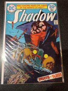 THE SHADOW #4 (1974) DC COMICS AMAZING COVER & ART MICHAEL W. KALUTA! NICE VF/NM