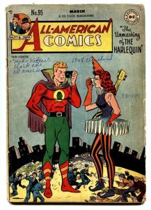 All-American Comics #95 1948- Green Lantern- Harelquin- DC Golden Age