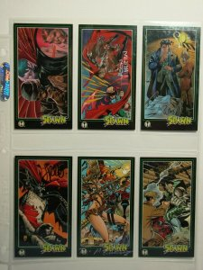 Six 1995 Image Comics SPAWN Art Cards AUTOGRAPHED JIMMY PALMIOTTI & MORE!!