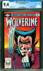 Wolverine Limited Series #1 CGC Graded 9.4 1st solo Wolverine comic. Yukio ca...