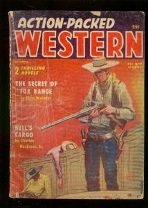 ACTION-PACKED WESTERN PULP SEPT 1956-VIOLENT CARD GAME G