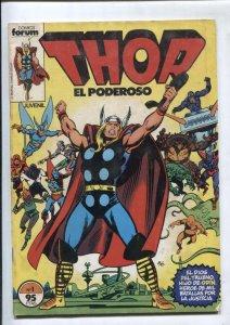 Thor  el poderoso volumen 1 numero 01: (numerado 1 en trasera)