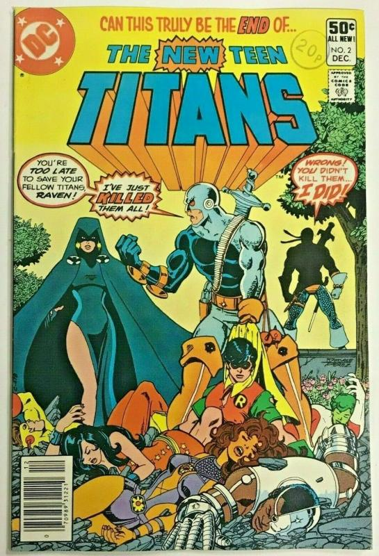 TEEN TITANS#2 VF 1980 FIRST DEATHSTROKE DC BRONZE AGE COMICS