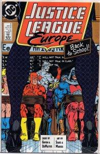 C Comics Justice League Europe #6 Flash, Power Girl, Metamorpho