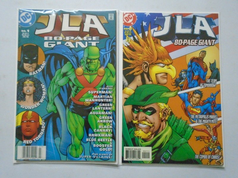 JLA 80-Page Giant #1-2 8.0 VF (1998-1999)