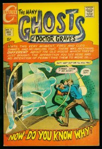 THE MANY GHOSTS OF DOCTOR GRAVES #17 1969-CHARLTON COMICS-DITKO ART- FN-