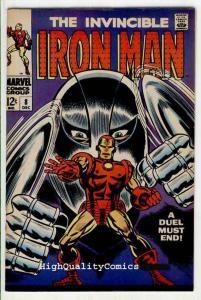 IRON MAN #8, VF+, Tony Stark, Gladiator, George Tuska, 1968, more IM in store