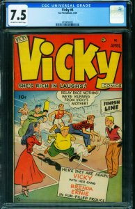 Vicky #4 CGC 7.5 1949-Ace-spicy female imagery-teen humor-2050850003