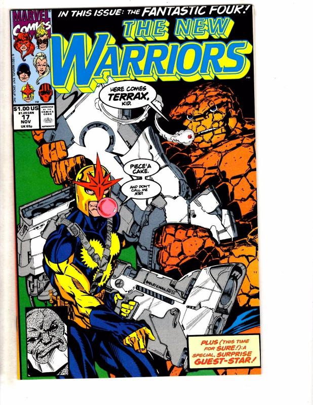 Lot Of 2 New Warriors Marvel Comic Books # 17 19 Nova Thing Speedball Gideon HJ6