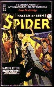 SPIDER-PULP-PAPERBACK #4-VAMPIRE C&G VF