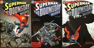 SUPERMAN DC DOOMSDAY WARS COMPLETE MINI SERIES VF/NM 3 BOOK LOT