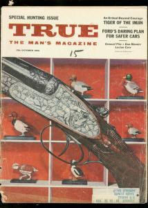 TRUE MAGAZINE OCT 1955-FAWCETT-HUNTING COVER FR/G