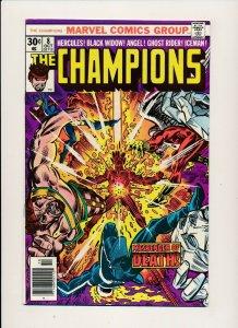 Marvel 1976 THE CHAMPIONS#8 Hercules/Black Widow/Angel/Ghost Rider F/VF (PF886)